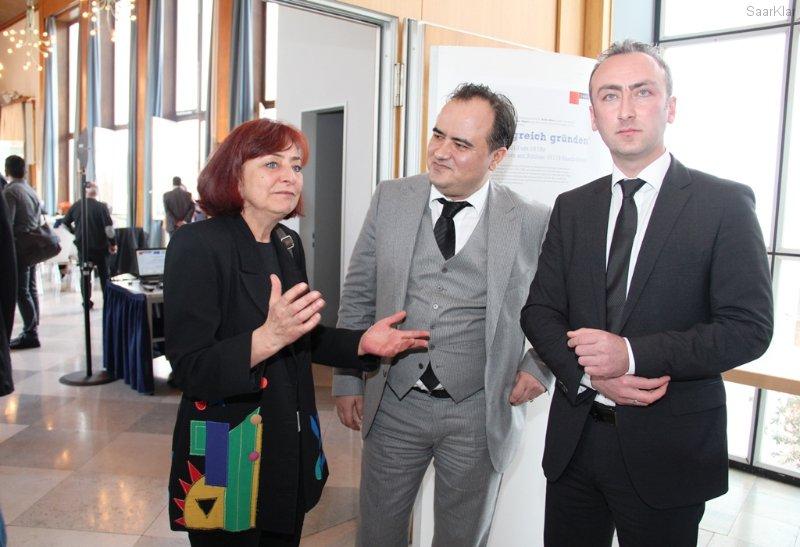 Igbal Berber und Rasim Akaya mit türkischem Generalkonsul Aslan Alpers Yüksel - Deutsch/Türkische Informationsveranstaltung zur Existenzgründung