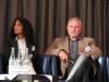 Moderatorin Nil Berber und Manfred Schneider WiFö - Deutsch/Türkische Informationsveranstaltung zur Existenzgründung