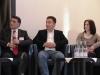 Sevdiye Erbay - Existenzgründerin, Mustafa Baklan - BAKTAT Gruppe und Hüseyin Yilmaz - Sonne Stahlhandelsgesellschaft - Deutsch/Türkische Informationsveranstaltung zur Existenzgründung