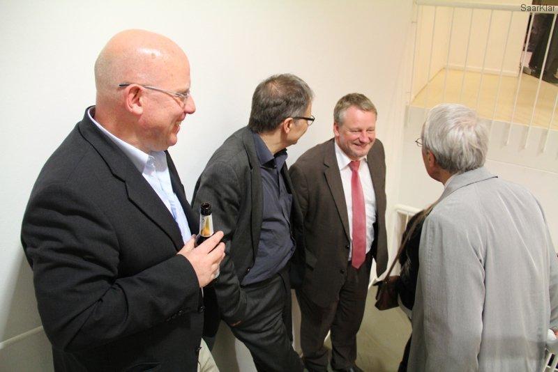 Neueröffnung Stadtgalerie - Minister Commercon im Gespräch