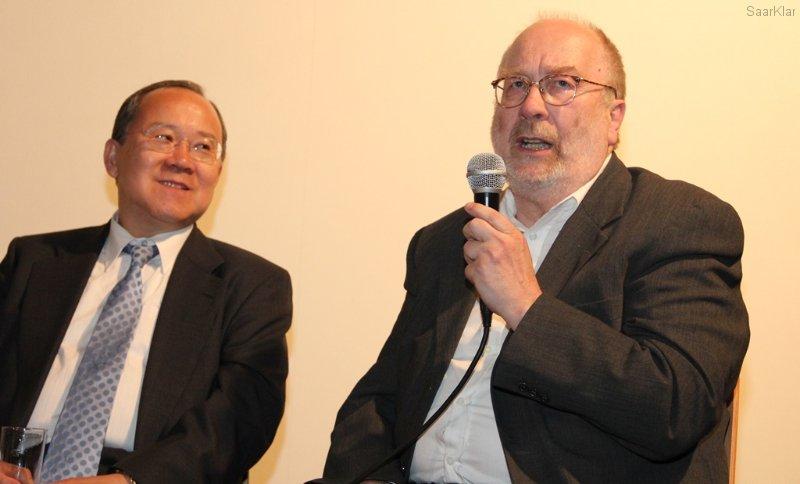 Botschafter Nakane und Historiker Schmidt
