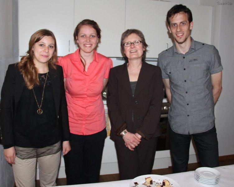 Sigrid Jost und Praktikantinnen des Saarländischen Filmbüros