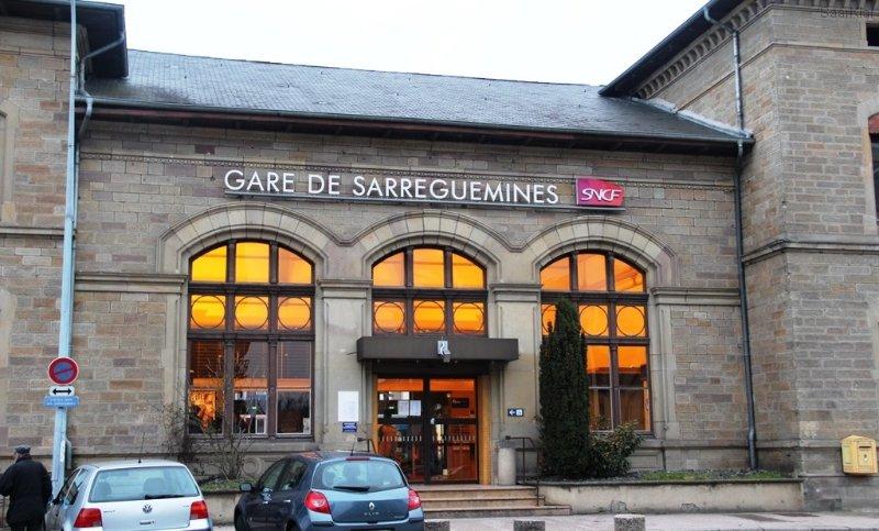 Bienvenue à Sarreguemines - die SaarBahnFahrt von Saarbrücken dauert ca. 30 Minuten