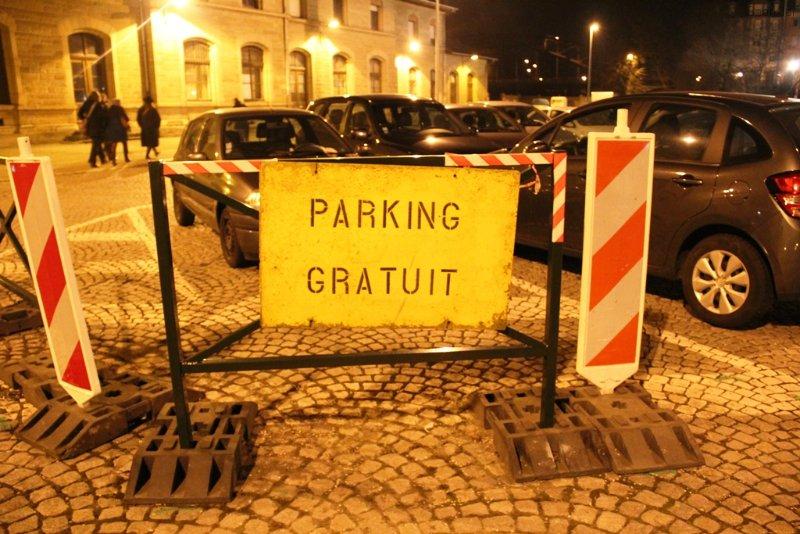 Kostenloses Parken ist im Stadtzentrum möglich