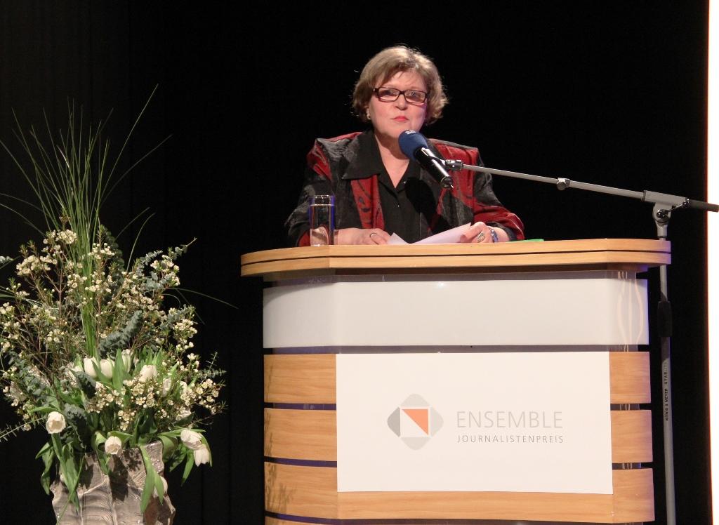 Ulli Wagner, Vorsitzende des Saarländischen Journalisten Verbandes