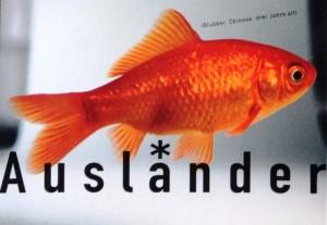 Goldfisch Blubber aus der Plakataktion des Integrationsbeirats Saarbrücken /Agentur Maksimovic