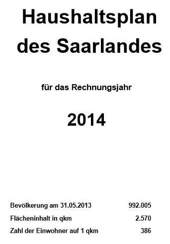 Haushaltsplan Regierungsentwurf 2014