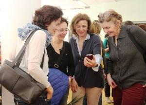"""Auch die Oberbürgermeisterin Charlotte Britz hatte viel Spass bei den """"Frauenwelten"""""""